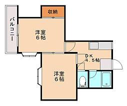 サンハウス笹原[2階]の間取り
