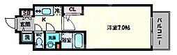 エスリード大阪上本町グリーズ 12階1Kの間取り