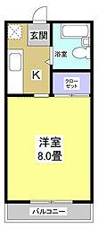 グリーンベルⅠ[2階]の間取り