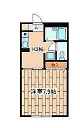 神奈川県藤沢市湘南台7丁目の賃貸アパートの間取り