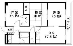 東洋マンション[3階]の間取り