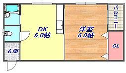 三山マンション[507号室]の間取り