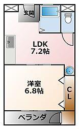 兵庫県西宮市小曽根町2丁目の賃貸マンションの間取り