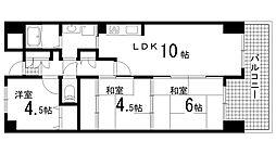 兵庫県神戸市北区甲栄台1丁目の賃貸マンションの間取り