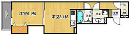 近鉄京都線 東寺駅 徒歩13分の賃貸アパート 1階1LDKの間取り