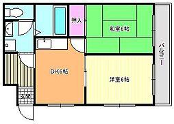 パークサイドマンションサオモト[3階]の間取り
