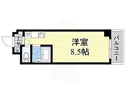 大阪モノレール彩都線 彩都西駅 徒歩30分の賃貸マンション 1階ワンルームの間取り