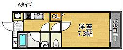 シャンテ笠松[2階]の間取り