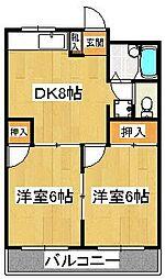 パールマンション[204号室]の間取り