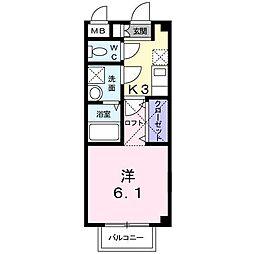 エスポワール鳴水[1階]の間取り