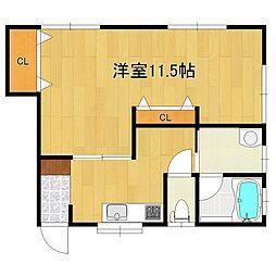 石渡アパート[202号室]の間取り