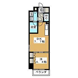 パークアクシス横濱大通り公園 5階1DKの間取り