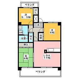 清幸マンション野田[8階]の間取り