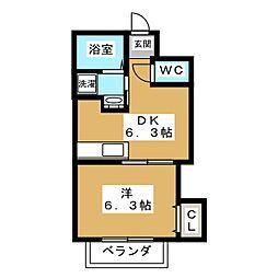 クリザンテーム山本[2階]の間取り
