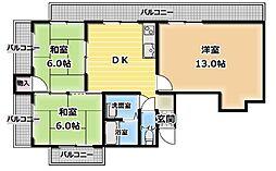 ベルメゾンM[4階]の間取り