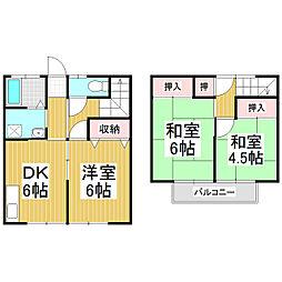 [テラスハウス] 長野県松本市野溝木工2丁目 の賃貸【/】の間取り