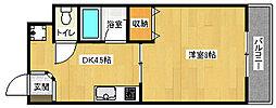 京都府京都市南区東九条南河辺町の賃貸マンションの間取り