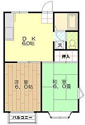 リバーハイム栄町[2階]の間取り