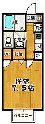 サンデューク恋ヶ窪2[1階]の間取り