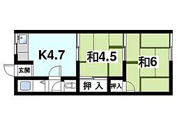 堀内アパート[2階]の間取り