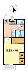兵庫県加古川市野口町良野の賃貸アパートの間取り