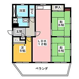 ライオンズマンション大垣[7階]の間取り
