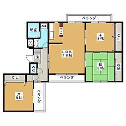 愛知県名古屋市千種区小松町5丁目の賃貸マンションの間取り