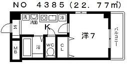 I Cube(アイキューブ)瓦屋町[702号室号室]の間取り