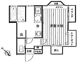 東京都北区西が丘1丁目の賃貸アパートの間取り