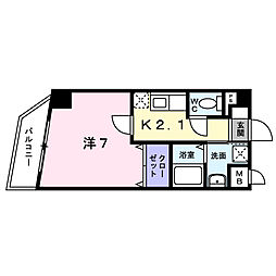 東京都中野区新井3丁目の賃貸マンションの間取り