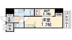 ONLYONE鶴之荘[7階]の間取り
