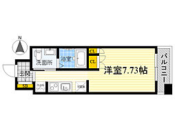 ガーデン蒲田[7階]の間取り