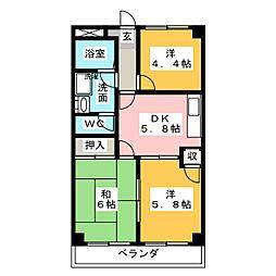エクシードB[2階]の間取り