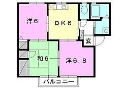 フォーレス森田[C201号室]の間取り