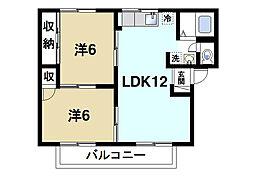 奈良県奈良市宝来3丁目の賃貸アパートの間取り