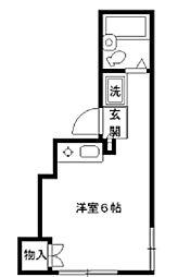 東京都北区西ケ原3の賃貸アパートの間取り