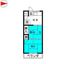 河原住宅[1階]の間取り