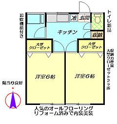 古瀬荘第二[1階]の間取り