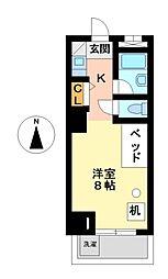 つばめ栄ハイツ[7階]の間取り