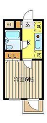 ピエタテール志木[2階]の間取り