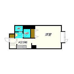 北海道札幌市厚別区厚別南1丁目の賃貸マンションの間取り