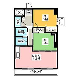 ネオハイツ旭[6階]の間取り