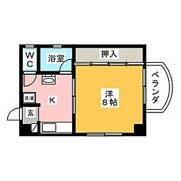 ゆたかビル[3階]の間取り