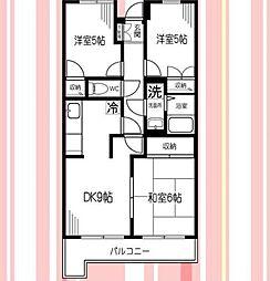 神奈川県横浜市保土ケ谷区新井町の賃貸マンションの間取り