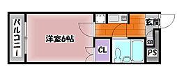 セシール鴨池[1階]の間取り