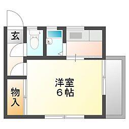 コーポ橋本 B棟[205号室]の間取り