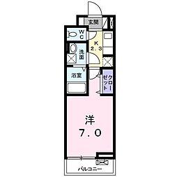 東宿郷3丁目アパート[3階]の間取り