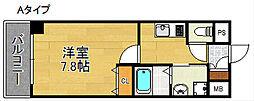 大阪府大阪市西成区千本中1丁目の賃貸マンションの間取り