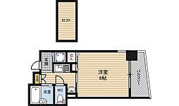 エステムコート新大阪3ステーションプラザ 9階1Kの間取り