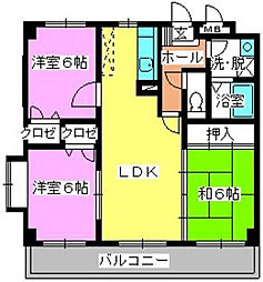 クレベール清永[4階]の間取り